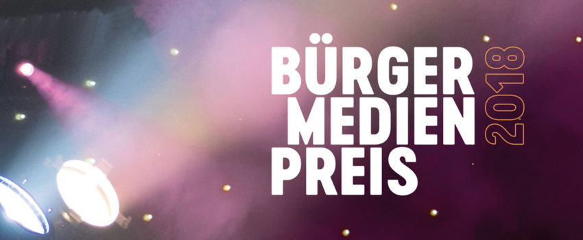 Bürgermedienpreis 2018